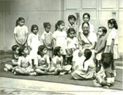 Shantabahen Patel with children